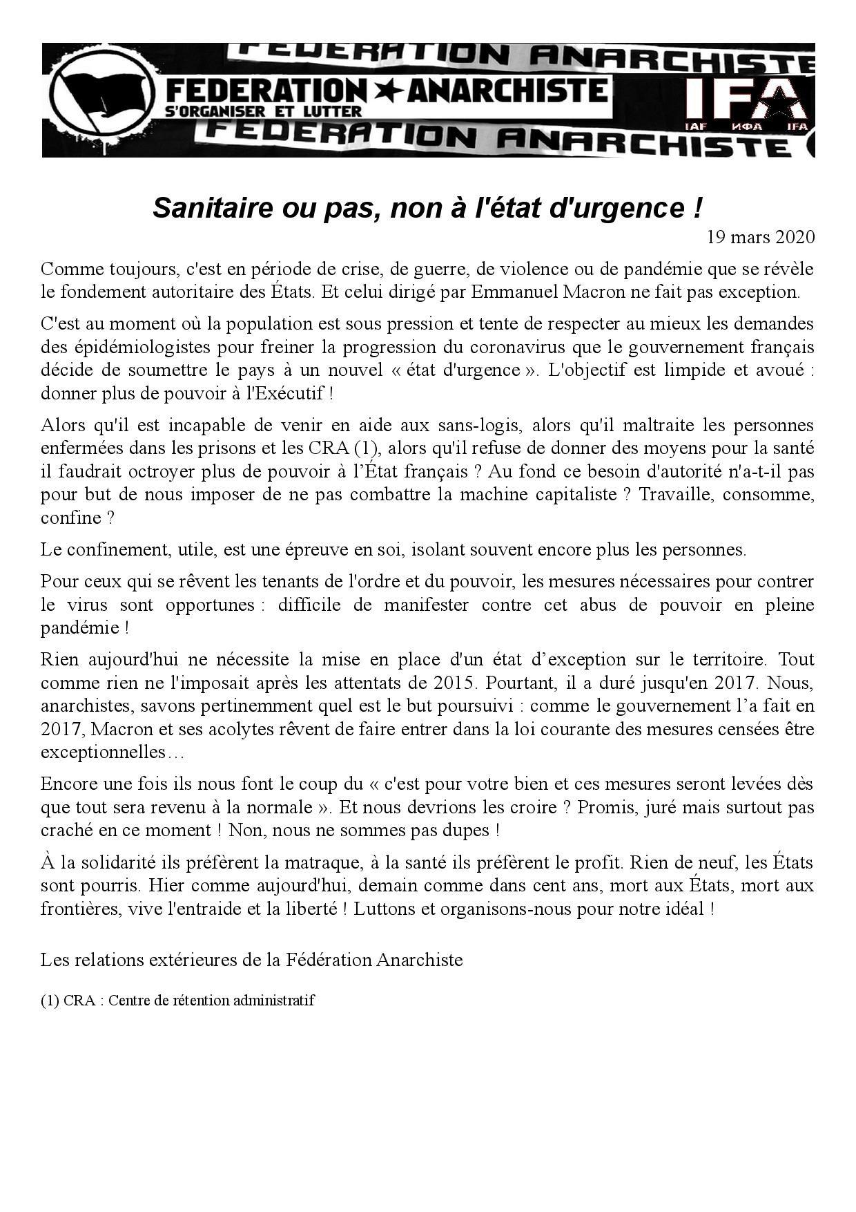 20200319_Comuniquee_FA_Sanitaire_ou_pas_non_a_lEtat_durgence.jpg